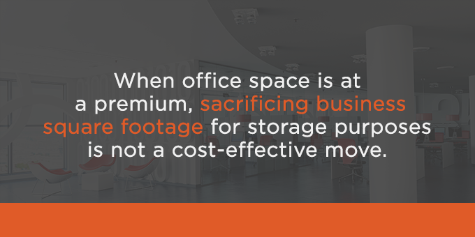 Using square footage for storage is not a cost-effective move.
