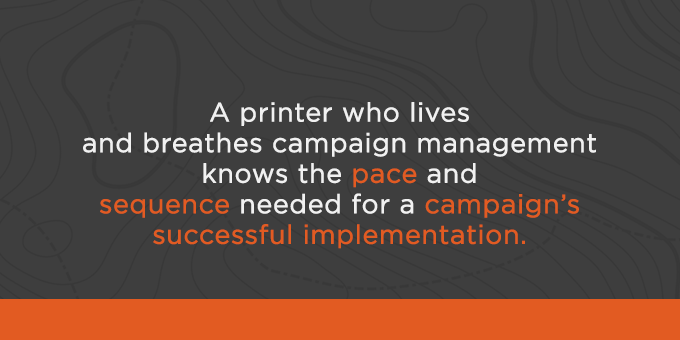 Your printer can help with pace and sequence.