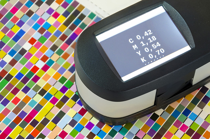 Spectrophotometers check a color's accuracy.