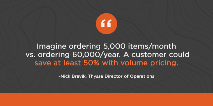 Volume pricing can help you save at least 50%.