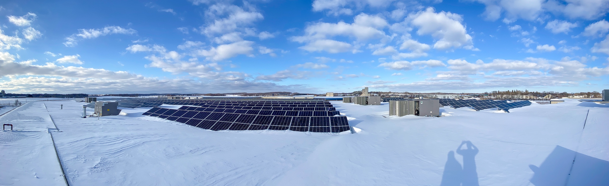 solar panels in winter